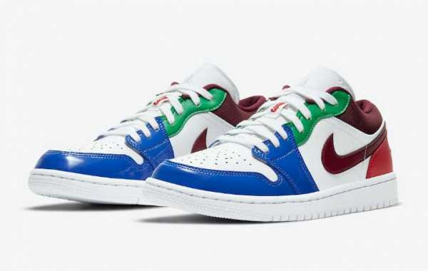 Air Jordan 1 Low Multi-Color Come With Patent Smooth Leather