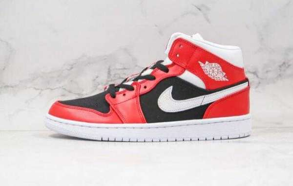 BQ6472-601 Air Jordan 1 Mid Red Black White is Available Now