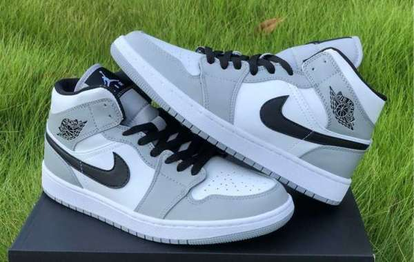 Are you looking for this Jordan 1 Mid Light Smoke Grey?