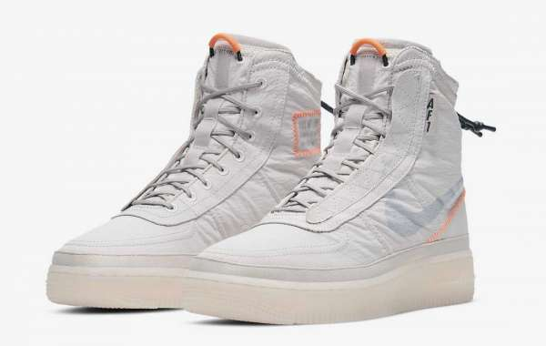 """BQ6096-003 Nike Air Force 1 High Shell """"Platinum Violet"""" Shoes Built for autumn and winter"""