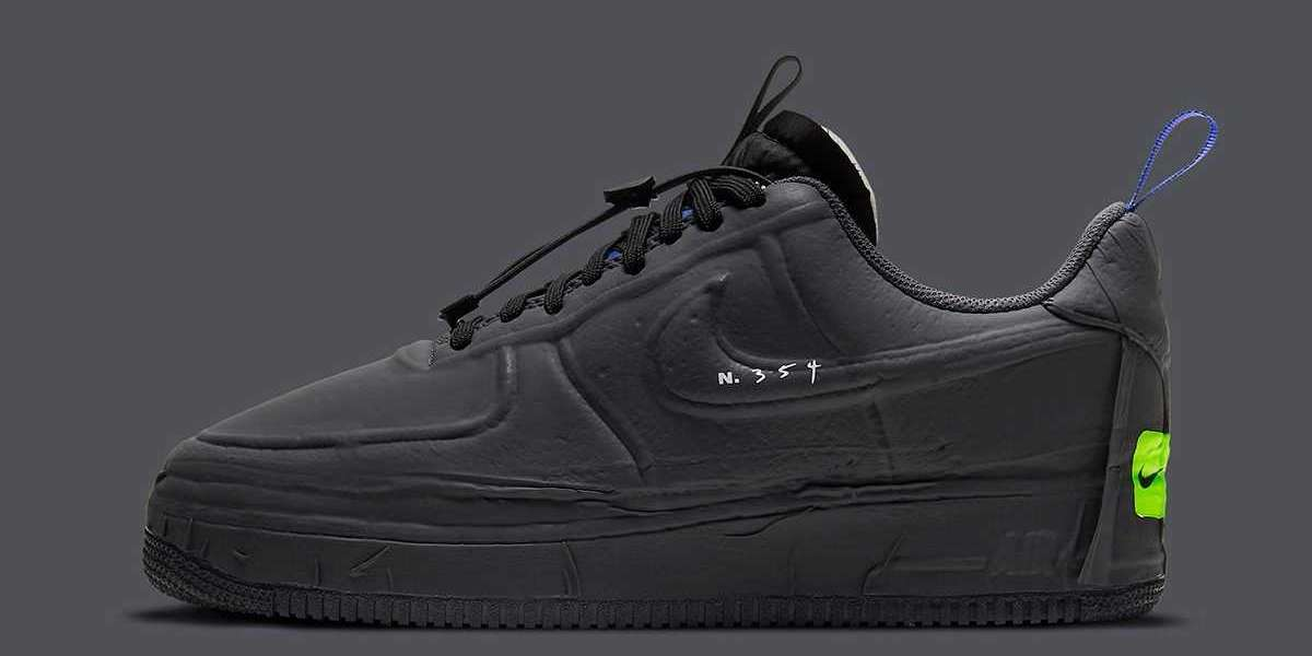 Nike Air Force 1 Experimental Black/Anthracite-Chile Red-Hyper Royal CV1754-001 2021 New Released