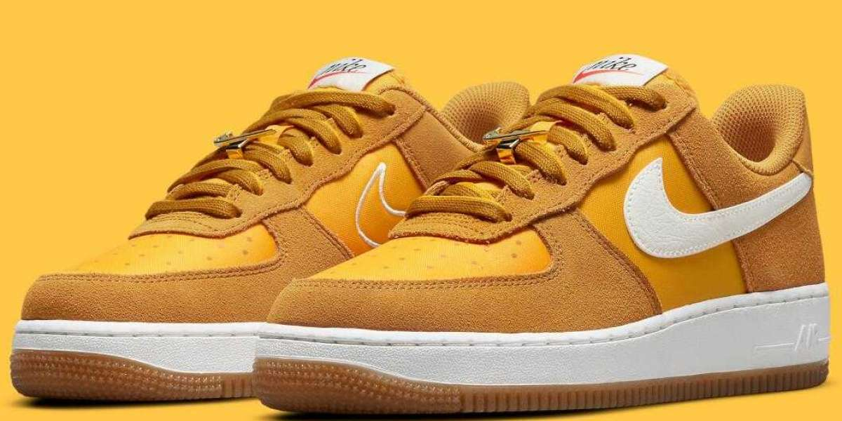 Newest Nike Air Force 1 Low First Use Get University Gold Colorway