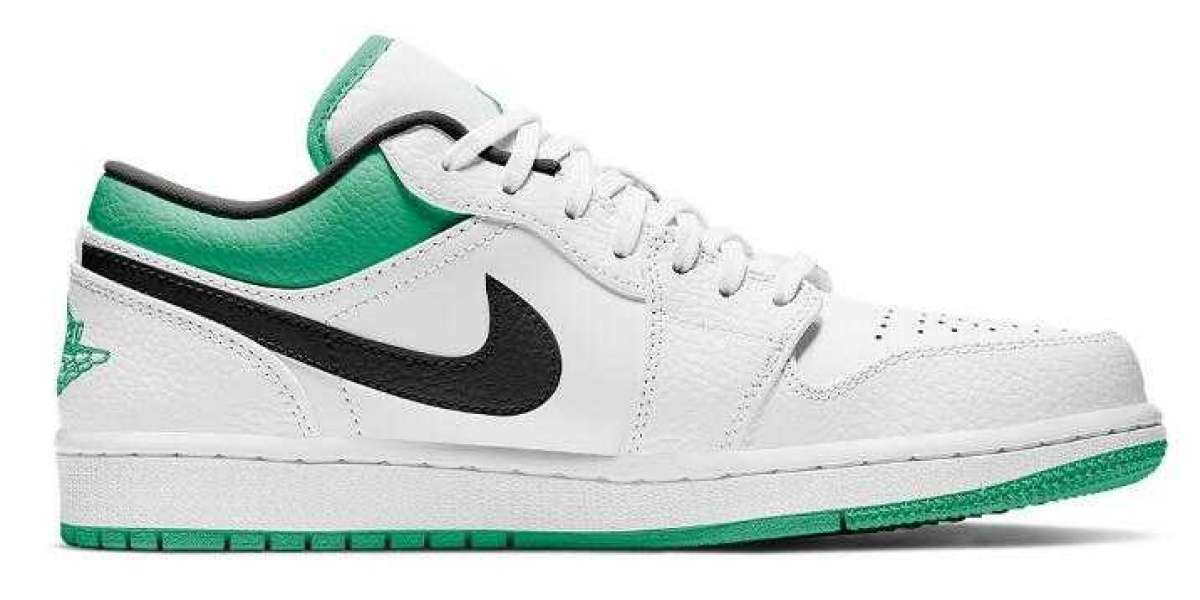2021 Air Jordan 1 Low Releasing With Lucky Green Colorway